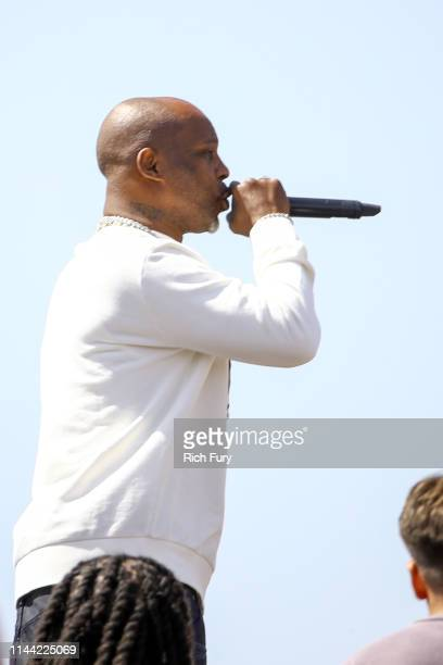 DMX speaks at Sunday Service during the 2019 Coachella Valley Music And Arts Festival on April 21 2019 in Indio California