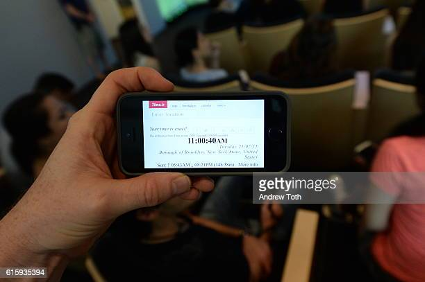 speaks on stage during Meet the Filmmaker Jake Schreier John Green Cara Delevingne and Nat Wolff Paper Towns at Apple Store Soho on July 21 2015 in...