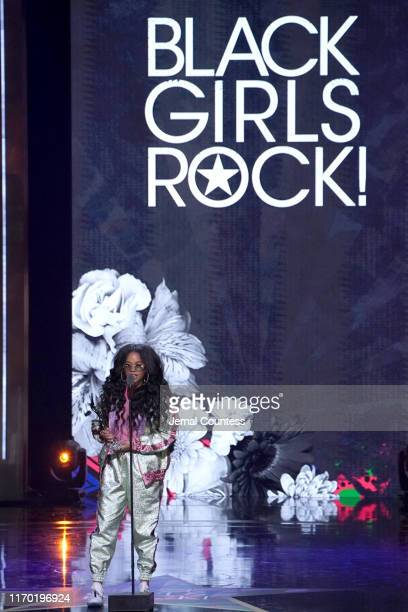 R speaks onstage at Black Girls Rock 2019 Hosted By Niecy Nash at NJPAC on August 25 2019 in Newark New Jersey