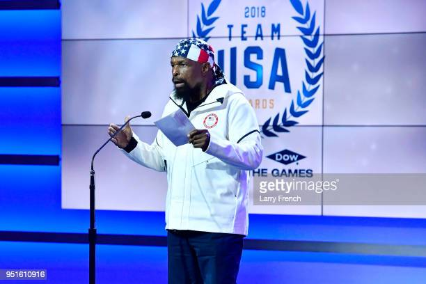 MR T speaks onstage at the Team USA Awards at the Duke Ellington School of the Arts on April 26 2018 in Washington DC