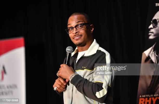 I speaks onstage during Netflix Presents RhythmFlow Atlanta screening at Clark Atlanta University on October 08 2019 in Atlanta Georgia