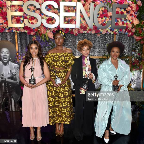 speaks onstage during the 2019 Essence Black Women in Hollywood Awards Luncheon at Regent Beverly Wilshire Hotel on February 21 2019 in Los Angeles...
