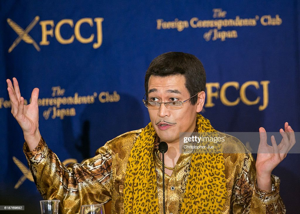 PIKOTARO speaks to the press on October 28, 2016 in Tokyo, Japan. PIKOTARO spoke to the foreign press in Japan on his song Pen Pineapple Apple Pen, or PPAP.