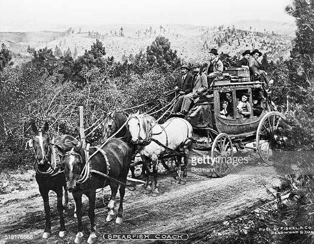 Spearfish mailcoach on its way to Deadwood South Dakota