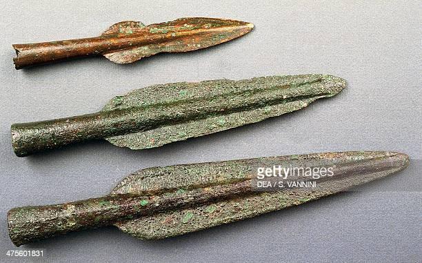 Spearheads Etruscan civilisation 6th century BC Grosseto Museo Archeologico E D'Arte Della Maremma