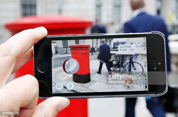 Spearow a Pokemon character appears in a London street during a game of Pokemon Go a mobile game that has become a global phenomenon on July 15 2016...