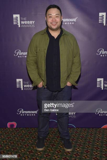 Special Achievement Award Winner David Chang poses backstage at The 22nd Annual Webby Awards at Cipriani Wall Street on May 14 2018 in New York City