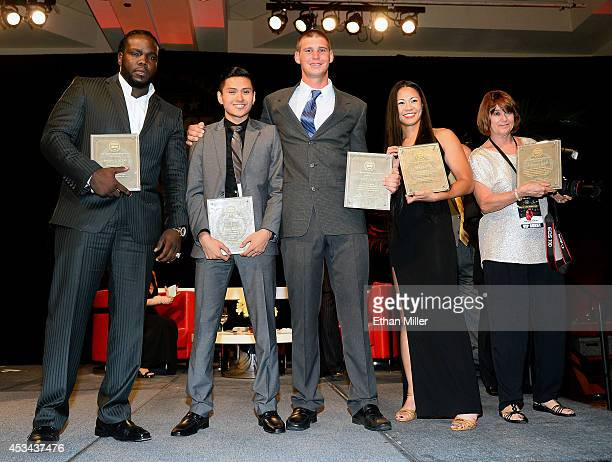 Special achievement award winners WBC heavyweight champion Bermane Stiverne college boxers Vinh Thai and Garrett Felling boxer and mixed martial...