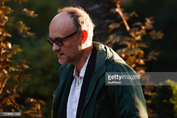 Special advisor Dominic Cummings arrives on Downing Street ahead of the weekly cabinet meeting in London England on September 22 2020