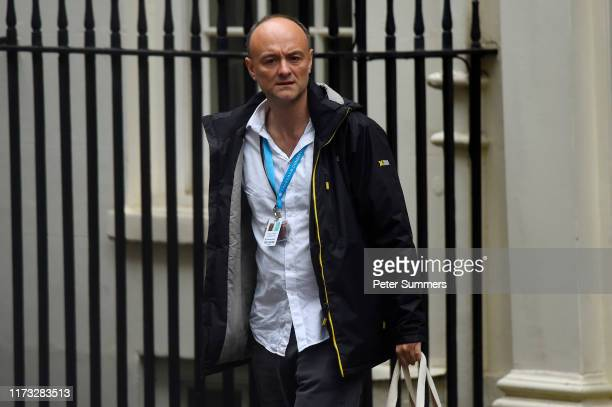 Special Advisor Dominic Cummings leaves 10 Downing Street with British Prime Minister Boris Johnson on October 3 2019 in London England Johnson...