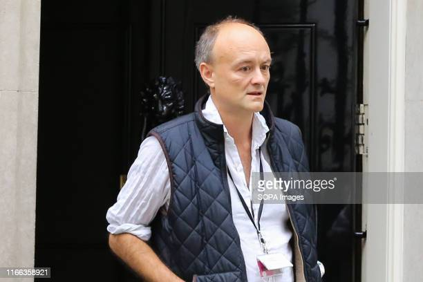 Special Advisor to the British Prime Minister Dominic Cummings comes out of 10 Downing Street in London