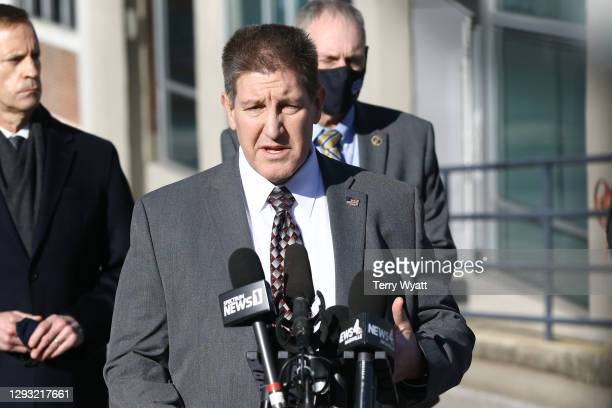 Special Agent in Charge Douglas Korneski speaks during a news conference on the Christmas day bombing on December 26, 2020 in Nashville, Tennessee....