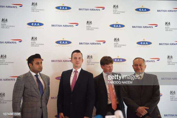 Special Assistant to Pakistani Prime Minister for Overseas Zulfi Bukhari Robert Williams British Airways head of Sales for Asia Pacific and the...