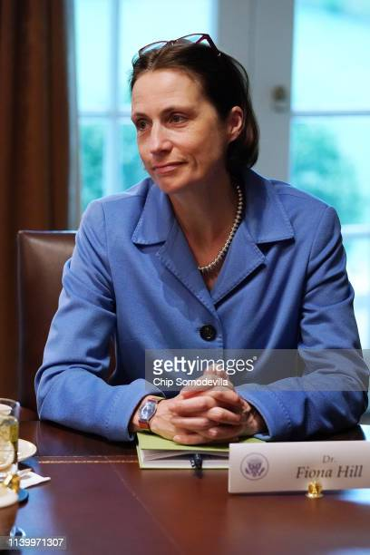 Special Assistant to the President and Senior Director for European and Russian Affairs Fiona Hill attends a bilateral meeting with US President...