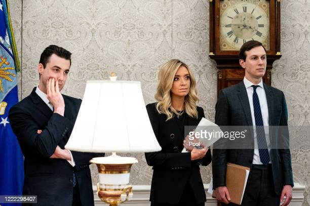 Special Assistnat to the President Nick Luna White House Press Secretary Kayleigh McEnany and soninlaw and senior advisor to US President Donald...