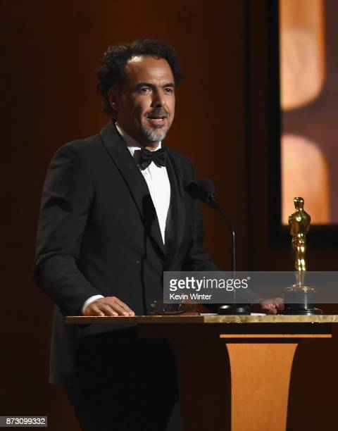 Special Award Winner Alejandro González Iñárritu speaks onstage at the Academy of Motion Picture Arts and Sciences' 9th Annual Governors Awards at...