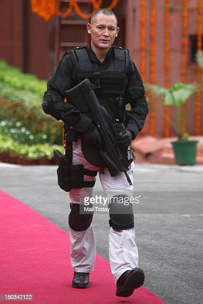 SPG special commando guard during 66th Independence Day function at Red Fort in New Delhi on Wednesday