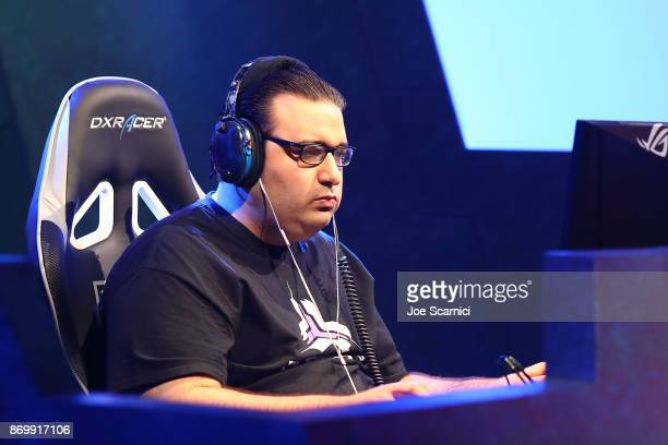 SpeCial competes with Elazer during the StarCraft World Championship at BlizzCon 2017 at Anaheim Convention Center on November 3 2017 in Anaheim...
