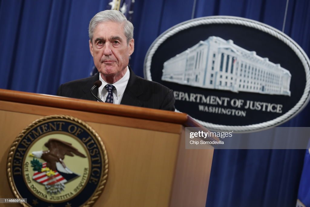 Special Counsel Robert Mueller Makes A Statement On Russia Investigation : News Photo