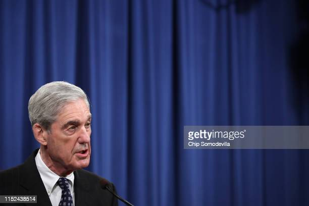 Special Counsel Robert Mueller makes a statement about the Russia investigation on May 29 2019 at the Justice Department in Washington DC Mueller...