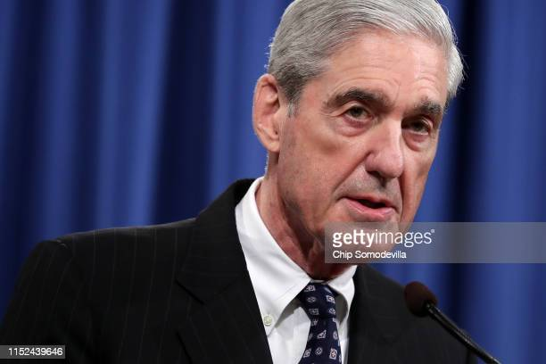 Special Counsel Robert Mueller makes a statement about the Russia investigation on May 29, 2019 at the Justice Department in Washington, DC. Mueller...