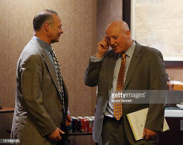 Special counsel to the NHL Players Association Steve Fehr and Bill Daly Executive Director of the NHL discuss negotiations with the NHL Players...