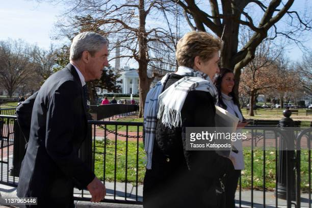 Special CounselRobert Mueller walks with his wife Ann Mueller after attending church on March 24 2019 in Washington DC Special counsel Robert...