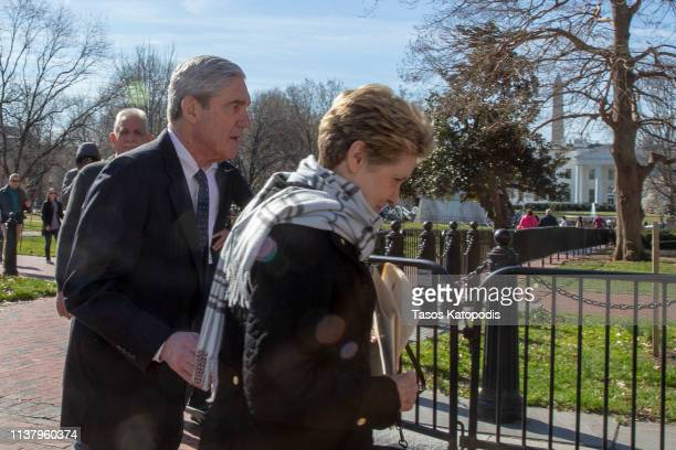 Special CounselRobert Mueller walks with his wife Ann Mueller on March 24 2019 in Washington DC Special counsel Robert Mueller has delivered his...