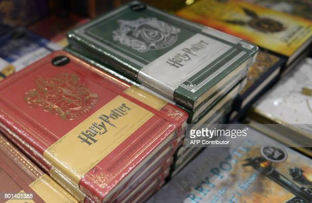 Special edition 20th anniversary edition Harry Potter books are displayed for sale in a book store in Edinburgh Scotland on June 26 2017 Author J K...