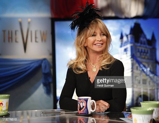 A Royal Wedding of The View featured celebrity guest cohost Goldie Hawn Barbara Walters live from London via satellite Kate Couture a Kate Middleton...