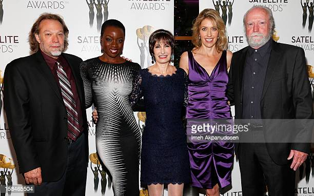 Special effects artist Gregory Nicotero actress Danai Gurira producers Gale Anne Hurd and Denise M Huth and actor Scott Wilson attend International...