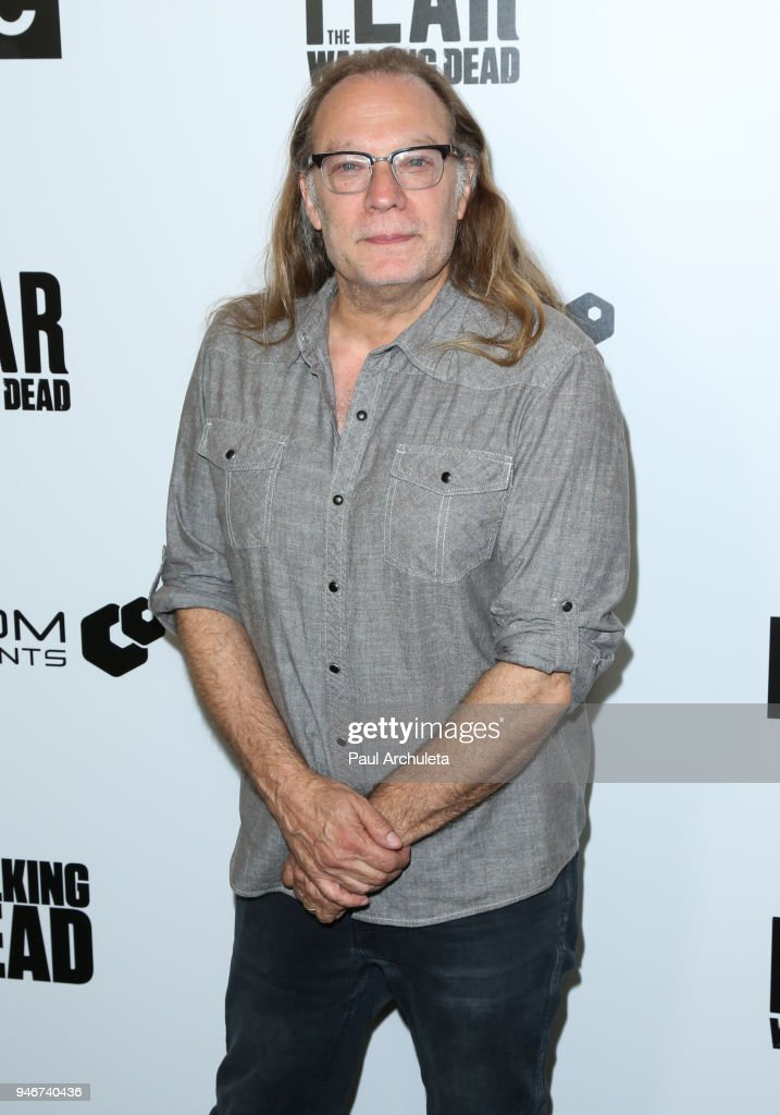 Special Effects Make-up Artist Greg Nicotero attends 'Survival Sunday: The Walking Dead and Fear The Walking Dead' at AMC Century City 15 theater on April 15, 2018 in Century City, California.