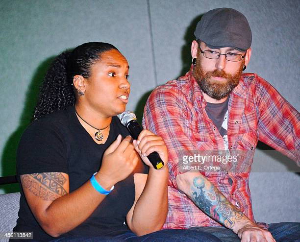 Special Effects Makeup Artists Gwen Crew and Barry Mahoney from SyFy's 'Face Off' Season 7 at the Son Of Monsterpalooza Convention held at Marriott...