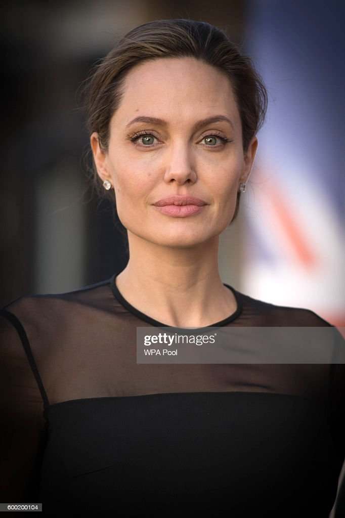UN Special Envoy, Angelina Jolie arrives at the UN Peacekeeping Defence Ministerial at Lancaster House on September 8, 2016 in London, England.