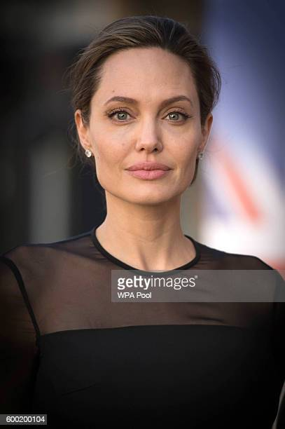 Special Envoy Angelina Jolie arrives at the UN Peacekeeping Defence Ministerial at Lancaster House on September 8 2016 in London England