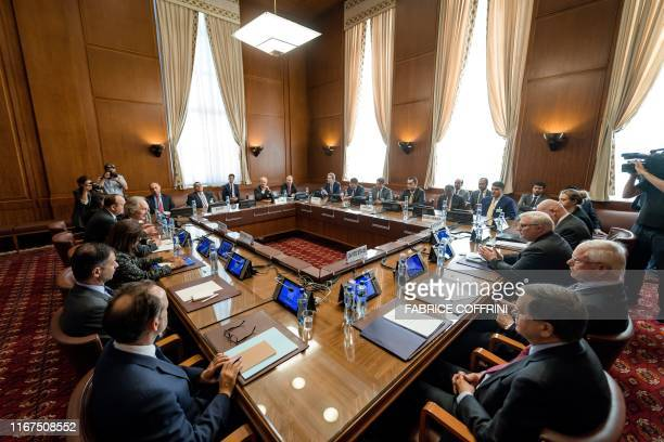 UN Special Envoy for Syria Geir Pedersen receives delegations from Egypt France Germany Jordan Saudi Arabia the United Kingdom and the US in Geneva...