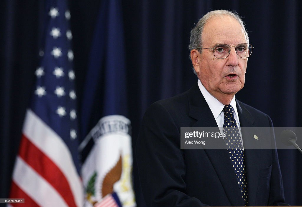 U.S. Special Envoy for the Middle East George Mitchell speaks at a briefing during the Middle East peace talks at the State Department September 2, 2010 in Washington, DC. Mitchell said both the Palestinians and Israelis have agreed to meet again in the region on September 14 and 15.