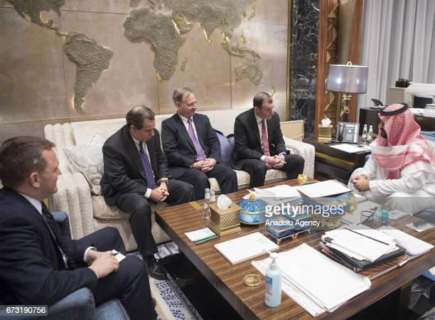 Special Envoy of the US President Donald Trump for the Global Coalition to Counter Daesh Brett McGurk meets with Defense Minister of Saudi Arabia...