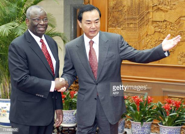 UN special envoy to Myanmar Ibrahim Gambari meets with Chinese Vice Foreign Minister Wang Yi at the foreign ministry in Beijing 25 October 2007...