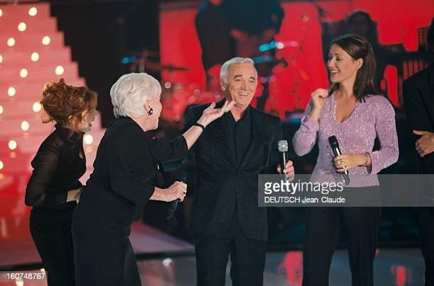 Special Evening Charles Aznavour. Enregistrement de la 'Soirée spéciale Charles AZNAVOUR' que TF1 diffusera le 19 mai pour son 77ème anniversaire :...