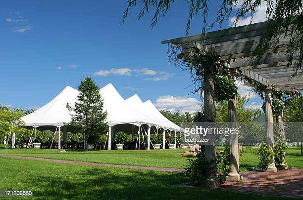 special event large white tent - fete stock photos and pictures