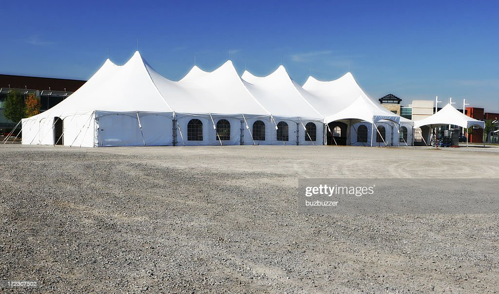 Special Event Large White Tent : Stock Photo