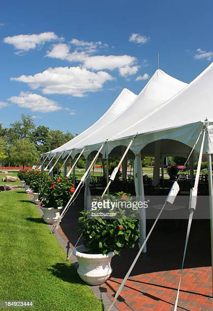 special event large white tent - tent stock pictures, royalty-free photos & images