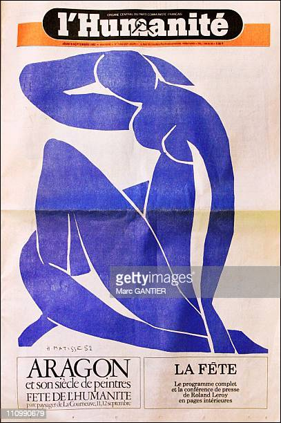 Special Festival of the Humanity with drawing by Henri Matisse in Saint Denis, France on February 19, 2004.