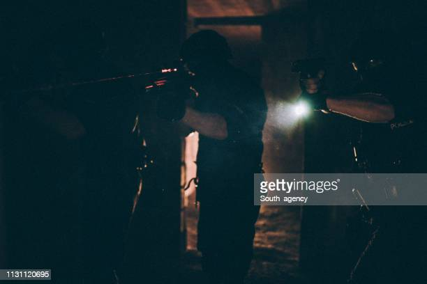 special forces police in action - terrorism stock pictures, royalty-free photos & images