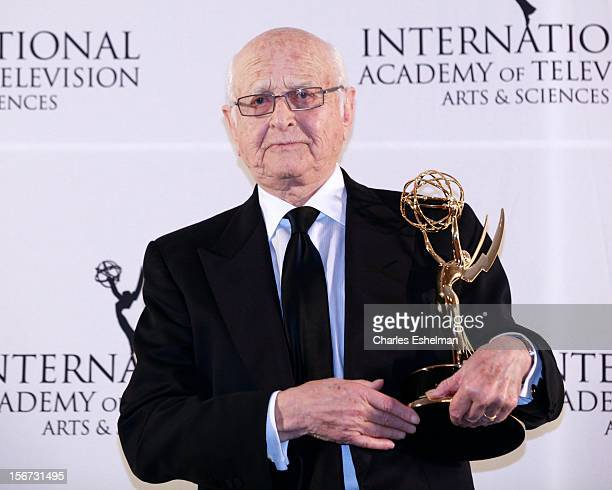 Special Founders award winner Norman Lear attends the 40th International Emmy Awards at Mercury Ballroom at the New York Hilton on November 19 2012...