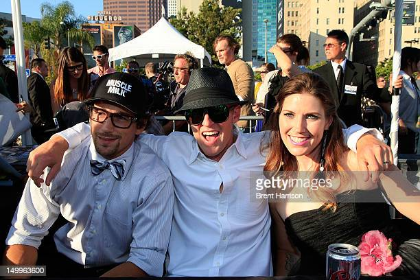 Special Greg Powell Erik Roner and Jolene Van Vugt at the Nitro Circus The Movie 3D autograph signing and press event at LA LIVE on August 7 2012 in...