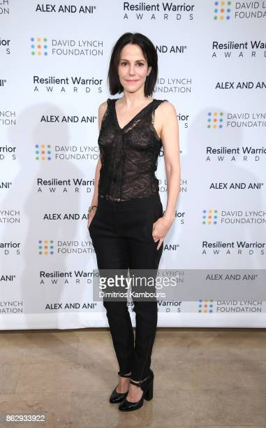 Special guest actress MaryLouise Parker attends Change Begins Within Healing The Hidden Wounds Of War Benefit Dinner Conversation hosted by David...