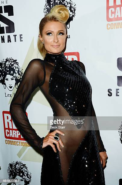 Special guest DJ socialite Paris Hilton arrives at the 4th Annual Senate Music Group PreGrammy Celebration hosted by Sean 'Diddy' Combs at Boulevard3...