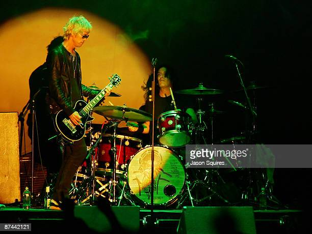 Special guest Duff McKagan and Sean Kinney of Alice in Chains perform during the 2009 Rock On The Range festival at Columbus Crew Stadium on May 16...